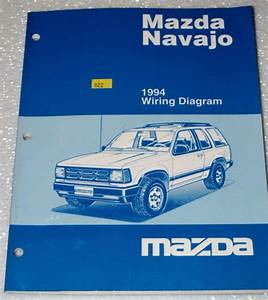 1994 Mazda Navajo Lx Dx Original Factory Electrical Wiring
