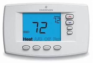Emerson Low Voltage Thermostat  Stages Cool 2  Stages Heat 4 - 4ufu9
