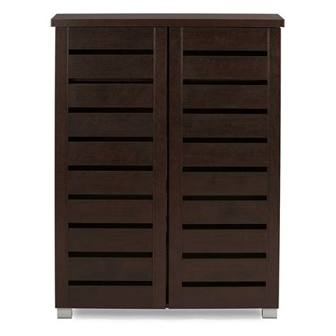 2 door wooden cabinet baxton studio adalwin modern and contemporary 2 door dark