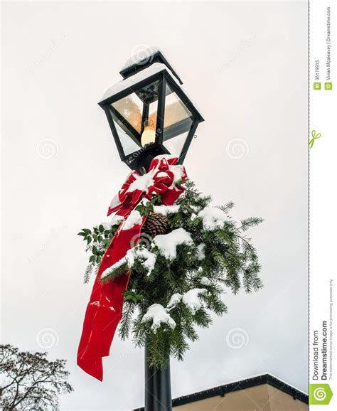 lamp post  christmas decoration royalty  stock
