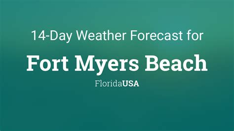 fort myers beach florida usa  day weather forecast