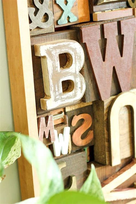 Hometalk   Faux Letterpress Printing Block DIY Art
