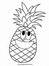 Pineapple Coloring Ananas Printable Fruit Fruits Cartoon Frutas Boyama Colorare Preschool Disegnidacolorare Colorir Kindergarten Coruja Pintura Pintar Printables Disegni Colorear sketch template