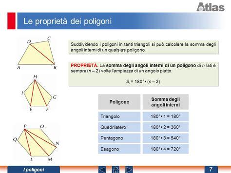 le caratteristiche dei poligoni ppt scaricare - Somma Angoli Interni Poligoni