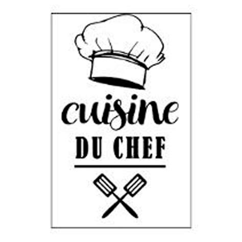 cuisine du chef stickers quot cuisine du chef quot 30x40cm noir