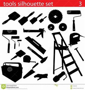 Vector Tools Silhouette Set Stock Vector - Illustration of