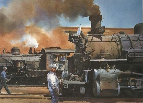 11 railroad paintings by ted on
