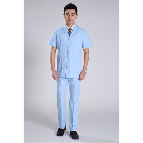 summer front opening male nurse suits uniforms tianex