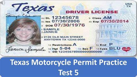 Texas Motorcycle Permit Practice Test 5 Youtube