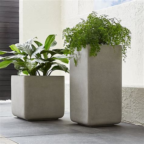 square planters crate  barrel