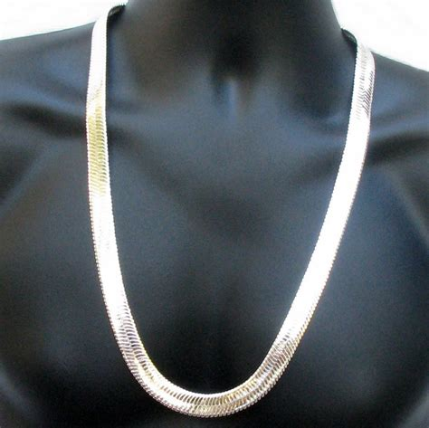 mm silver plate herringbone chain herringbone chains