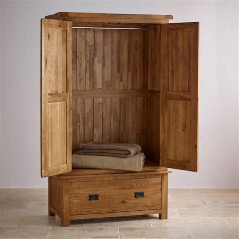 rustic wardrobe  solid oak original rustic oak