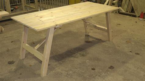 kitchen centre island redwood trestle table the wooden workshop oakford