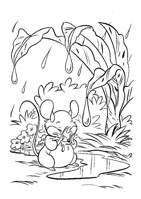 coloriage souris pluie sur hugolescargotcom