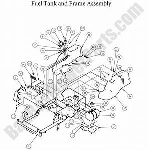 Bad Boy Parts Lookup 2013 Mz Magnum Fuel Tank  U0026 Frame
