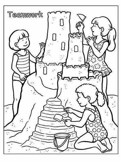 Coloring Pages Summer Parents Printable Sheets Sand