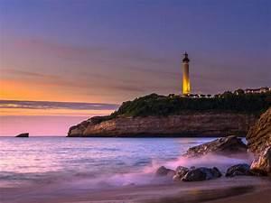 Fond Ecran Mer : fond d 39 cran gratuit mer phare de biarritz ~ Farleysfitness.com Idées de Décoration