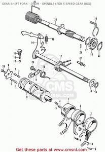 Honda Cb125k3 Gear Shift Fork - Drum