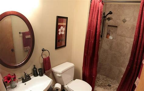 bathroom red burgundy images  pinterest