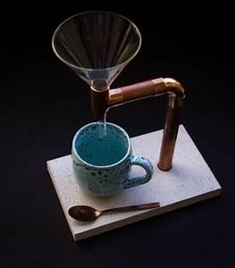 Grünkohl Zubereiten Glas : k chenger te helfer kaffee br her beton kupfer glas inkl l ffel ein designerst ck von ~ Yasmunasinghe.com Haus und Dekorationen