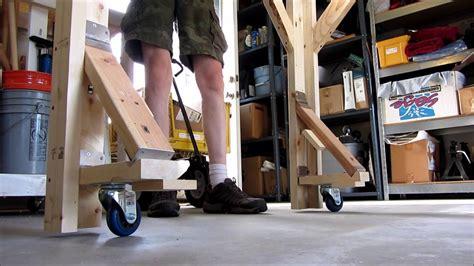 mattvid  garage workbench retractable caster wheels