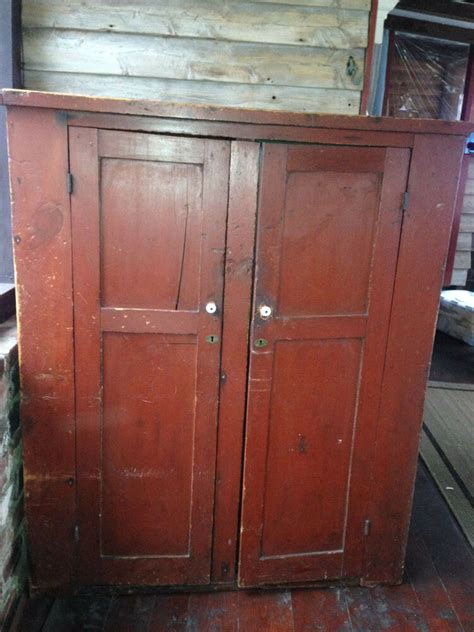 Wardrobe Cabinet by Primitive Wood Antique Rustic Colonial Wardrobe