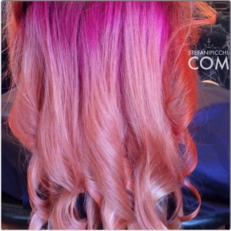 pink ombre hair colar  cut style