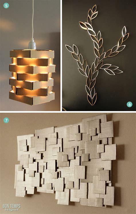 diy ideas  clever ways   cardboard   decor