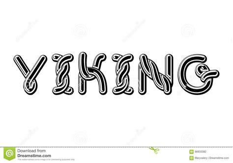 viking logo lettering celtic font norse medieval ornament