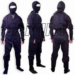 B2 Size Chart Martial Arts Uniforms Ninja Ninjutsu Halloween Suit