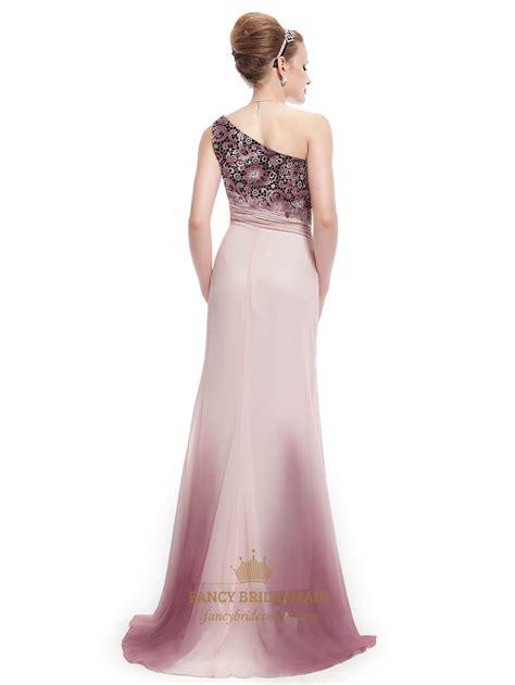 One Shoulder Light Pink Prom Dresses Wwwimgkidcom