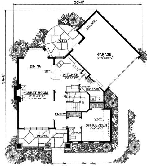 cool floor plans plan 43040pf unique floor plan hides garage bedrooms