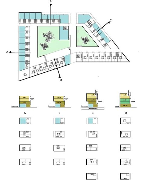 Building Layout Diagram by Mixed Use Building Typologies Search Diagrams
