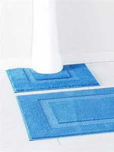 tapis de salle de bain antiderapant bleu maison With tapis de salle de bain antidérapant