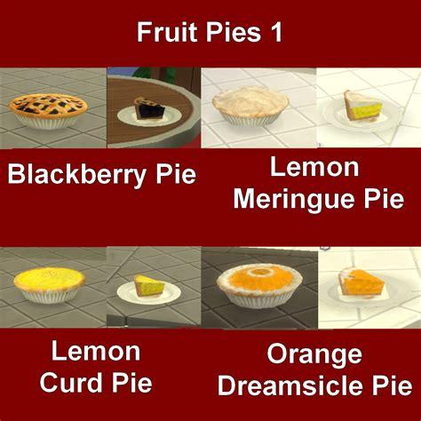 cuisine customiser my sims 4 custom food pies by leniad