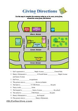 giving directions instructions pinterest worksheets