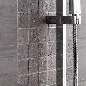 mosaique sol et mur vestige gris leroy merlin With carrelage adhesif salle de bain avec bande led interieur