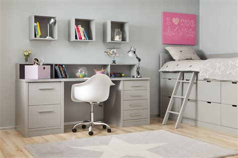bureau ado fly cuisine bureau ado avec coffre de rangement gris