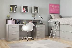 Bureau Chambre Fille : bureau ado petit bureau blanc pas cher lepolyglotte ~ Teatrodelosmanantiales.com Idées de Décoration