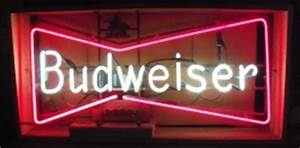 Budweiser Bowtie 3 ft Neon Beer Bar Sign Light No Ship