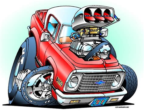 muscle car cartoons images  pinterest cartoon