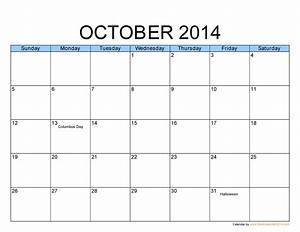 october 2014 calendar printable template http www With free calendar templates 2014 canada