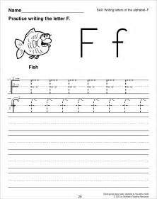 Letter F Tracing Worksheets Preschool