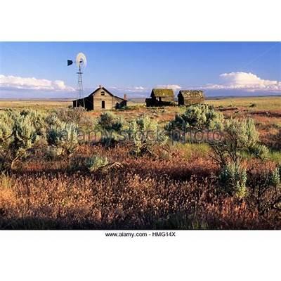 Old Homestead Oregon Usa Stock Photos &