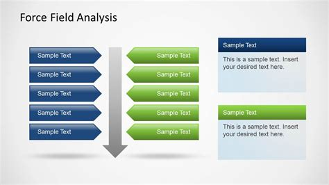 field analysis diagram template field analysis template for powerpoint with forces arrow slidemodel
