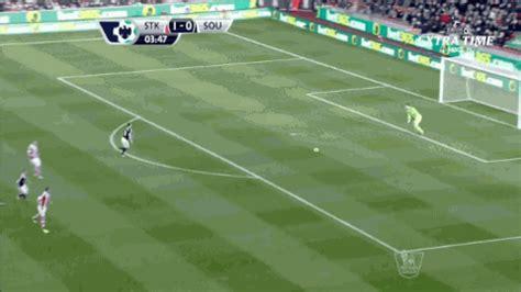 football gif stoke keeper asmir begovic scores