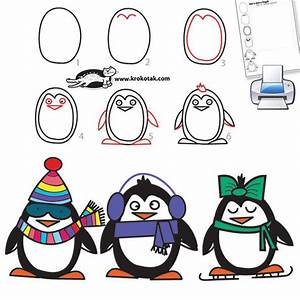How to draw a penguin in 6 easy steps | CHRISTMAS and ...