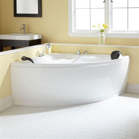 wide bathtub 52 quot kauai corner acrylic tub bathroom