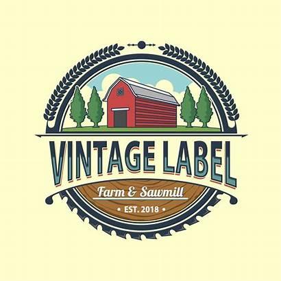 Farm Sawmill Label Vector Labels Clipart Frame