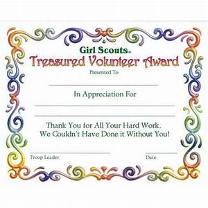 girl scout investiture certificate juniors treasured With girl scout award certificate templates